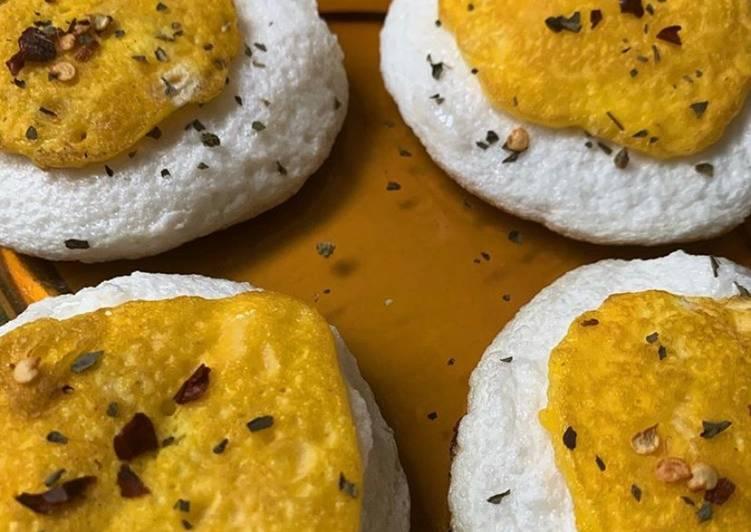 Deconstructed Soufflé Eggs