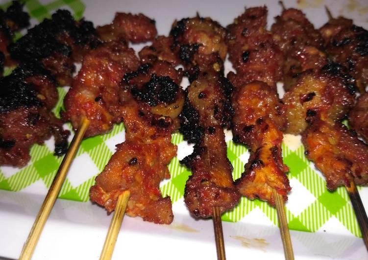 Sate daging sapi pedas nagih