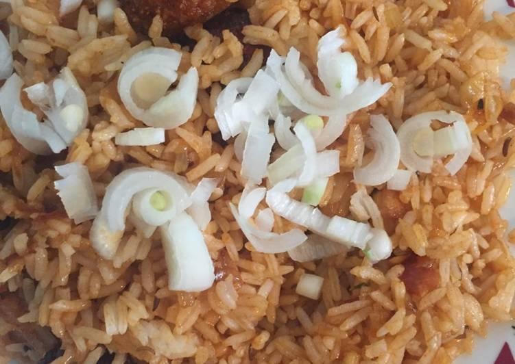 Veg Manchurian Rice(Indo-chinese recipe)