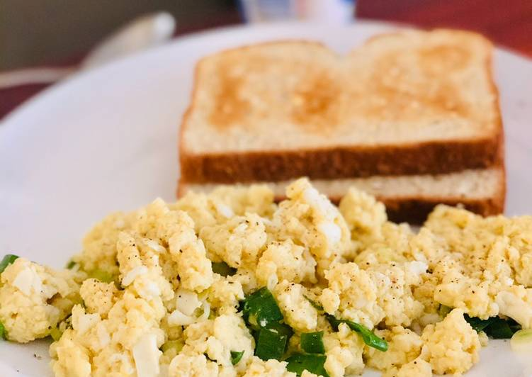 Oat Milk Scrambled Eggs
