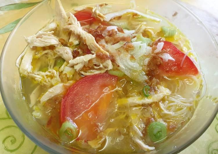 Soupe de poulet indonésien rapide