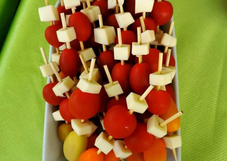 🍅 Brochettes tomates mozzarella!! 🍅