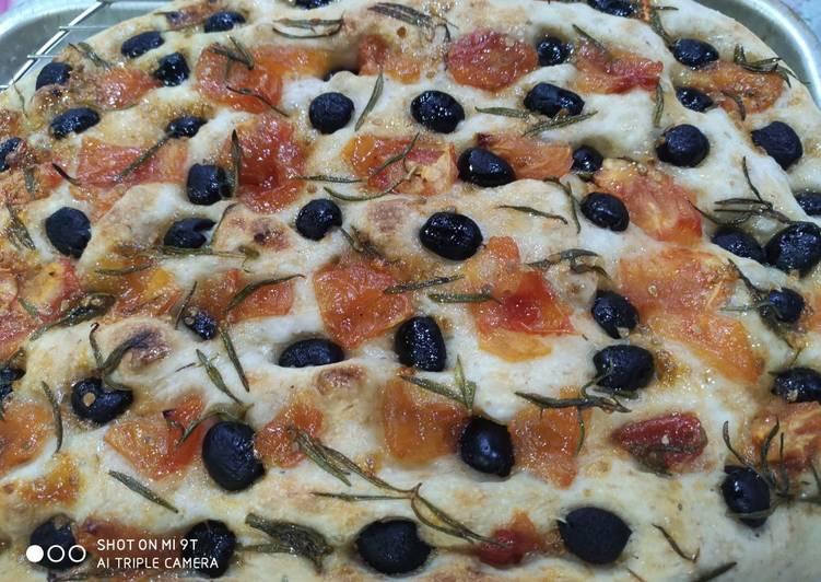 Sour dough focaccia
