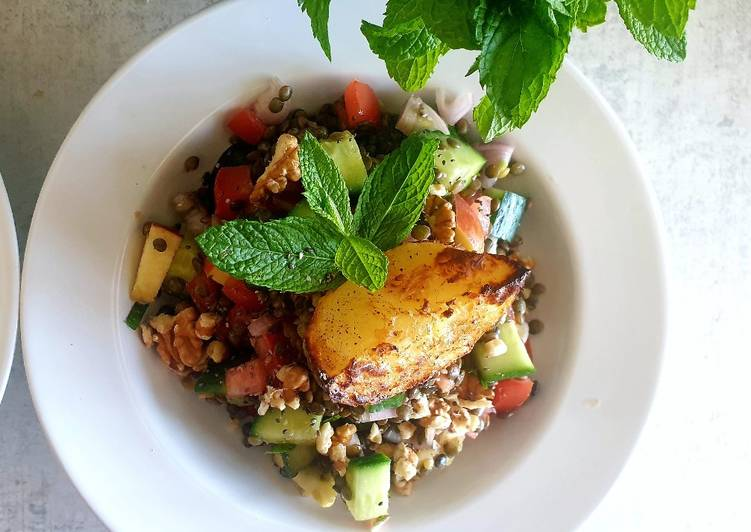 Spring Lentil Salad (Vegan)