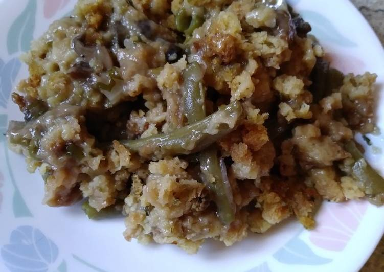 Stuffing and Herb Green Bean Casserole