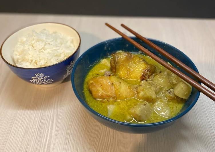 Curry vietnamien poulet et taro