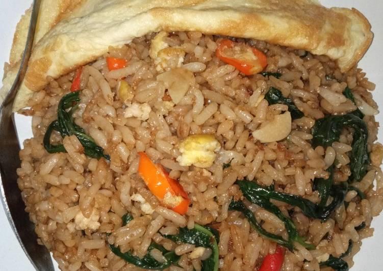 Nasi goreng kangkung ala resto