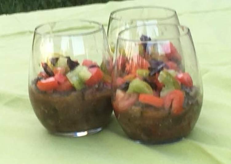 Verrines d'aubergines