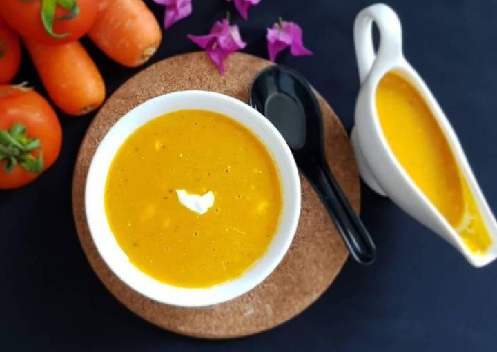 Carrot - tomato soup