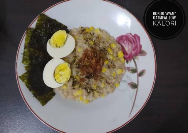 Bubur OatMeal Gurih Low Calori <Healthy Food>
