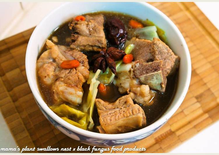 Komama 發表的 黑木耳藥燉排骨湯.柯媽媽の植物燕窩 食譜 - Cookpad