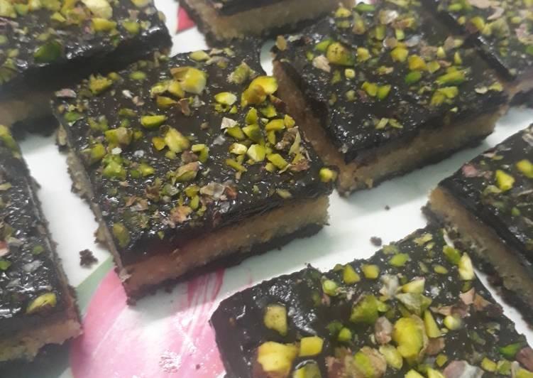 No bake Masoor dal Cake