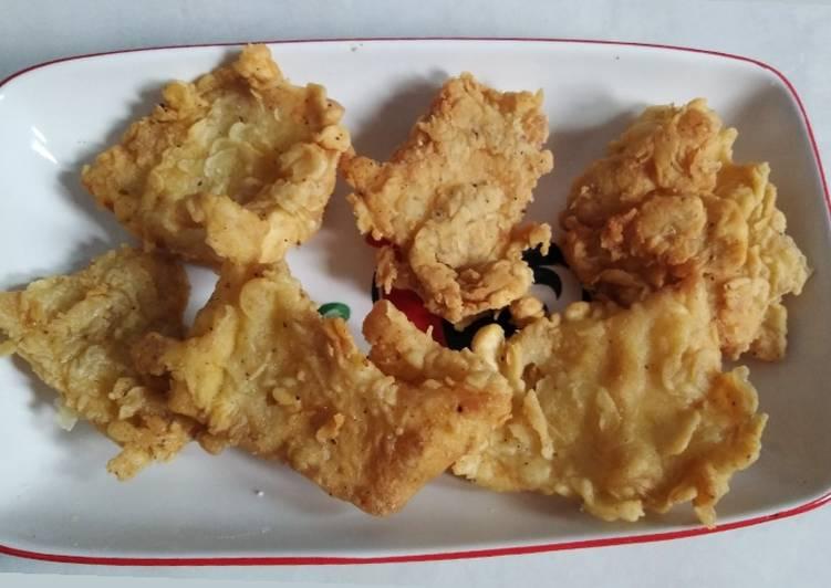 Kulit ayam KFC (ala yackikuka) + sambel geprek