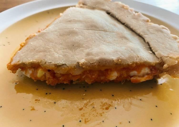 Tomatoe and tuna pie