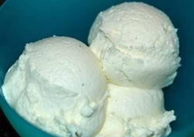 Cold ice cream