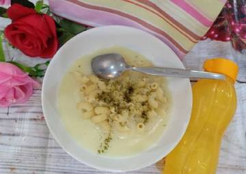 Resep Sarapan Pagi. Bekal Sekolah Anak. Makaroni Sup Cream Paling dicari