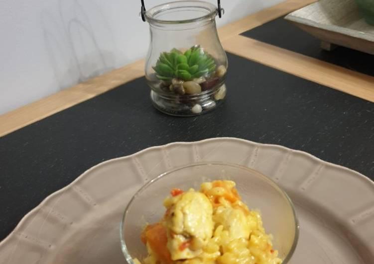 Risotto poulet au curry au cookeo