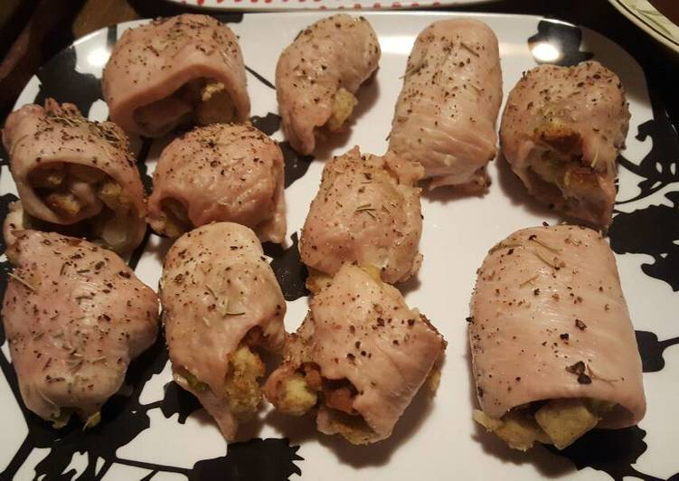 Turkey Cutlet Roll-ups