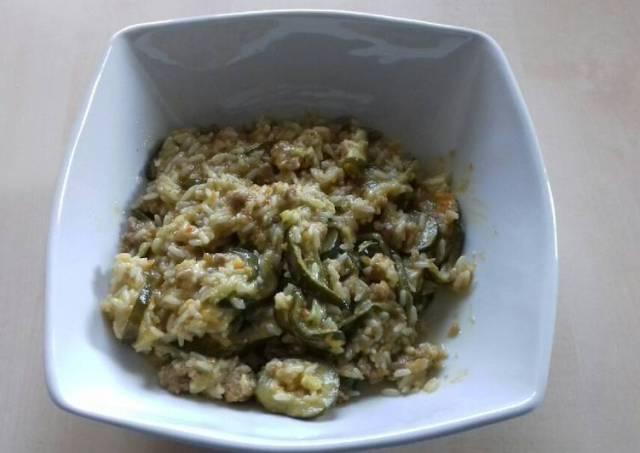 Sausage and zucchini risotto
