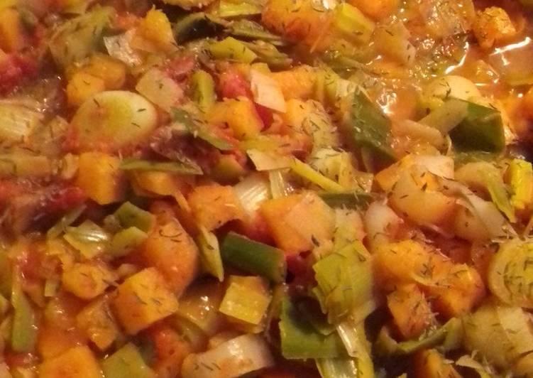 Pieds de porc et ses petits légumes