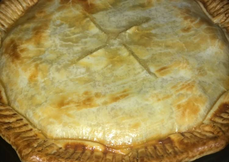 Chicken pot pie (for two pies)
