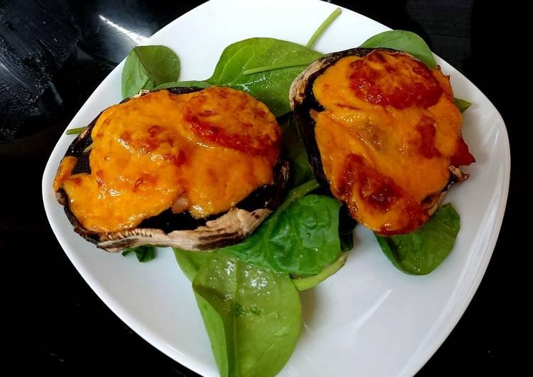 My Ham,Cheese +Tomato Stuffed Mushroom. 🥰