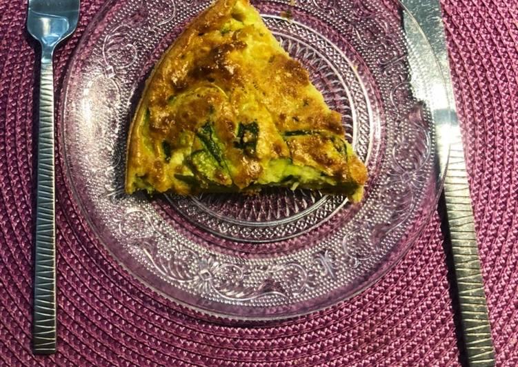 Quiche omelette pesto parmesan