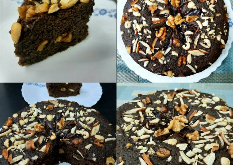 Oats Dates and Walnuts Chocolate Cake