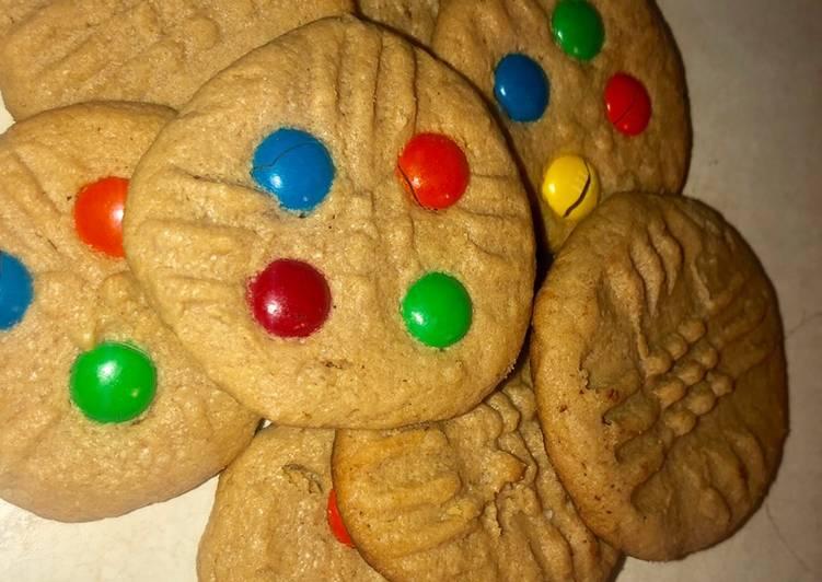 3 ingredient peanut butter cookies EASY