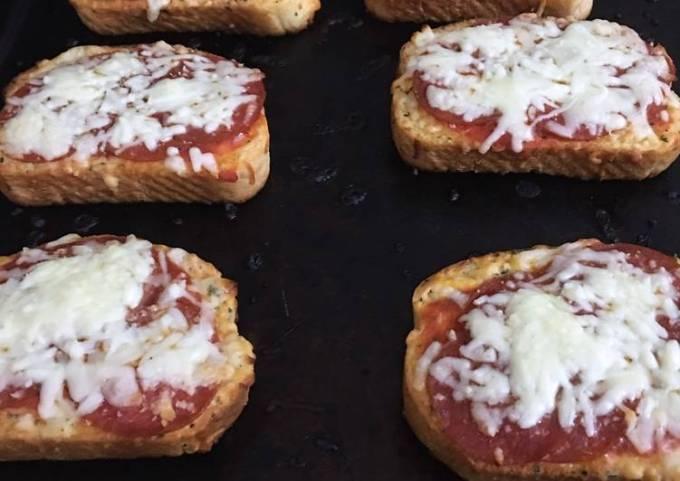 Texas toast pizza #mycookbook