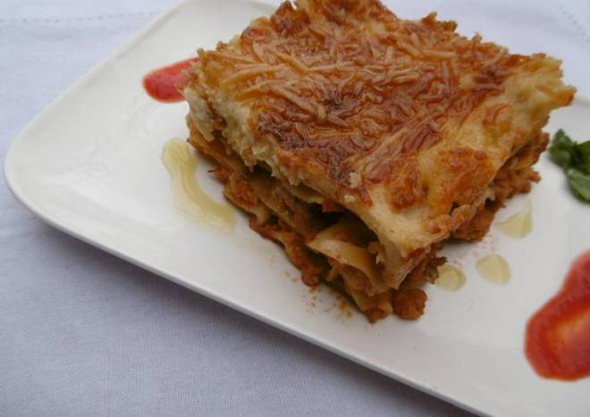 Oven Baked Chicken Lasagna with a Refreshing Taste