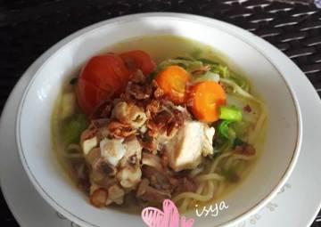 Resep Sup ayam mie (menu anak) Terbaik