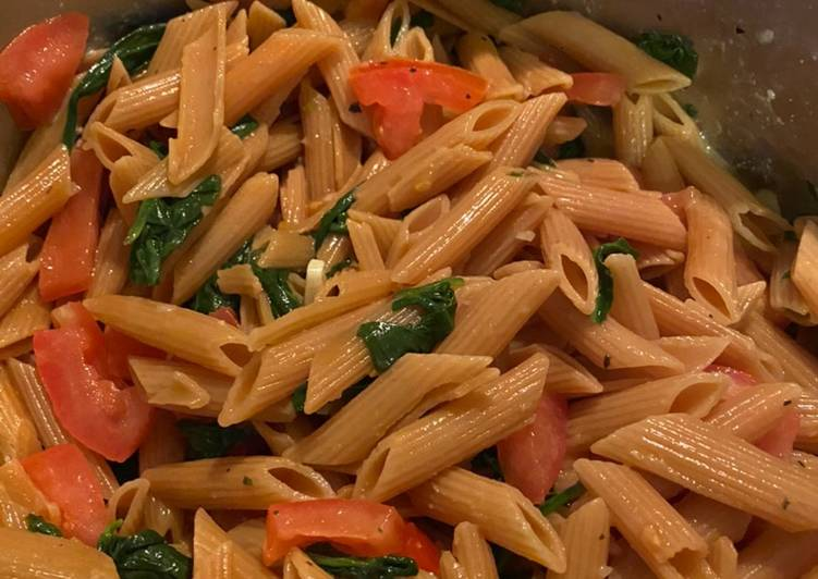 Parveen's vegan lemon lentil pasta