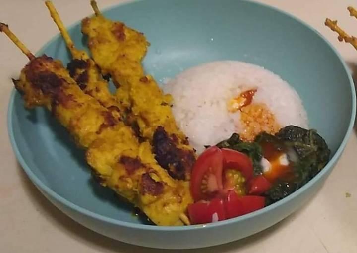Curry Satay Chicken Skewer