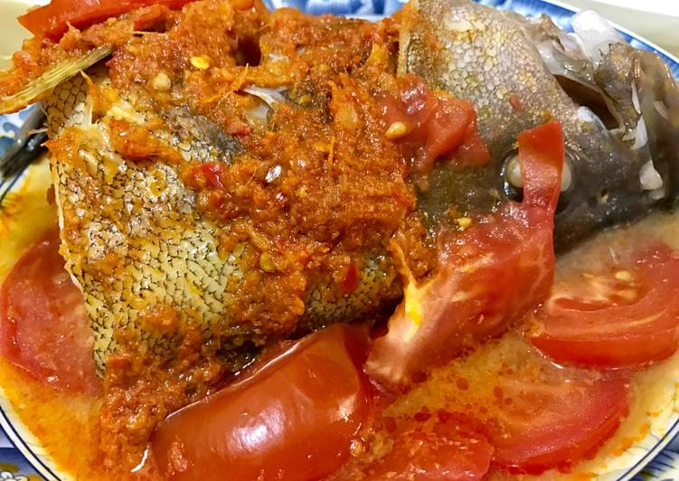 Asam Fish Head with Tomato