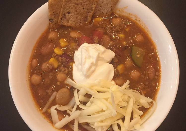 Mexican ground beef soup