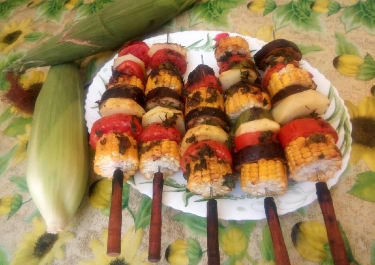 Grillade aux légumes de soleil et maïs 🌽🍆🍅