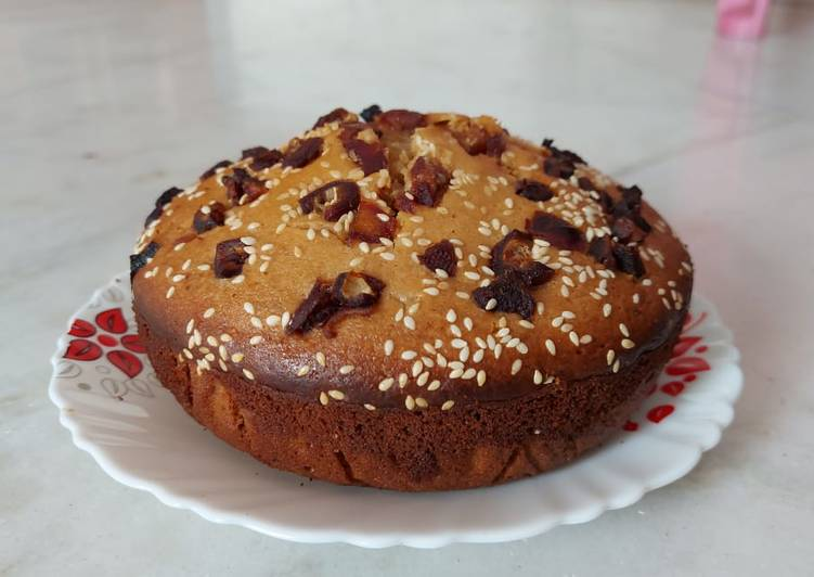 Wheat plum cake (Nolen gur attar cake)