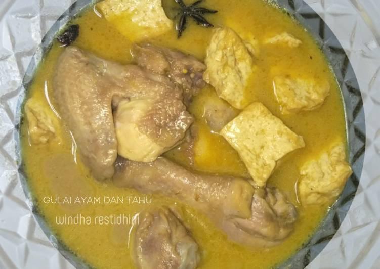 Resep Gulai Ayam dan Tahu
