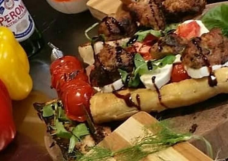 Sausage Meatball Sandwich w/Balsamic Glaze
