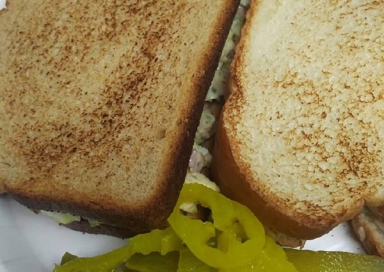 Chopped Ham Salad Sandwich
