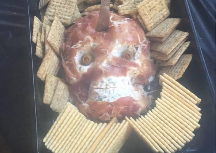 Skeleton Cheese Ball