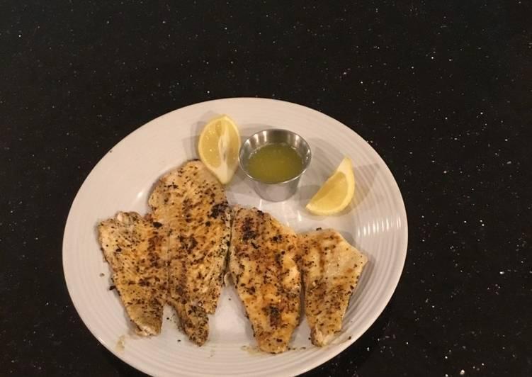 Grilled Fresh Flounder Fillets
