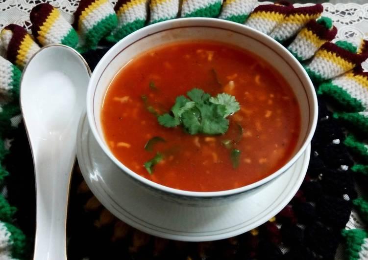 Tomato Basil Noodle Soup