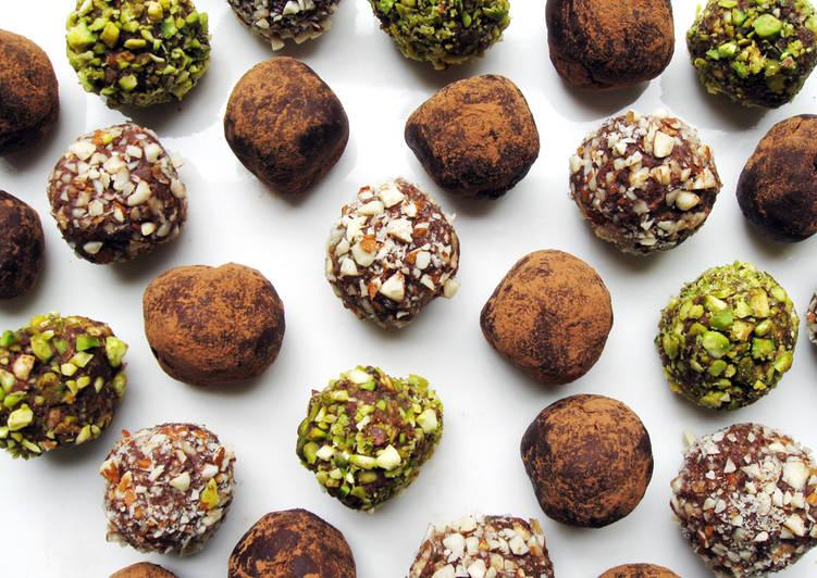 Silken Tofu & Rum Raisins Chocolate Truffles