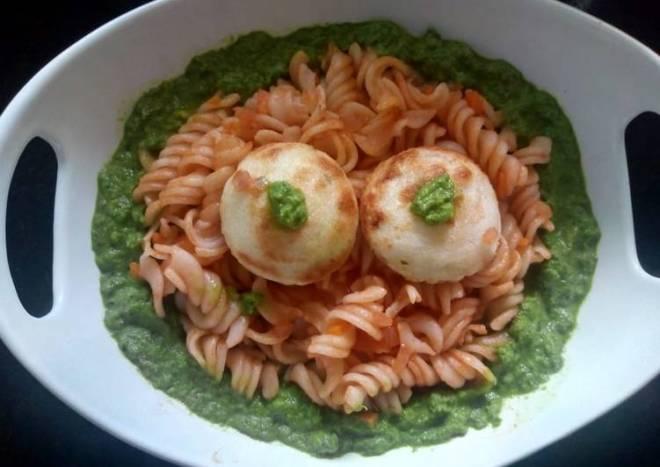 Appe pasta with pesto sauce