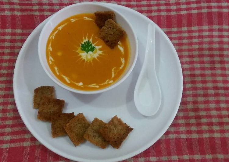 Oats and carrot soup