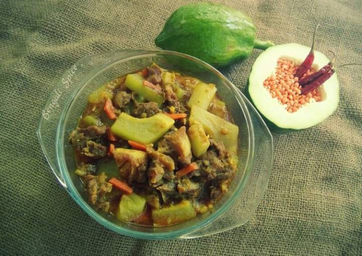 Green Papaya and Beef Curry with Lentil ♥