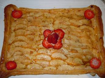 Receta paso a paso de tarta de manzana y hojaldre