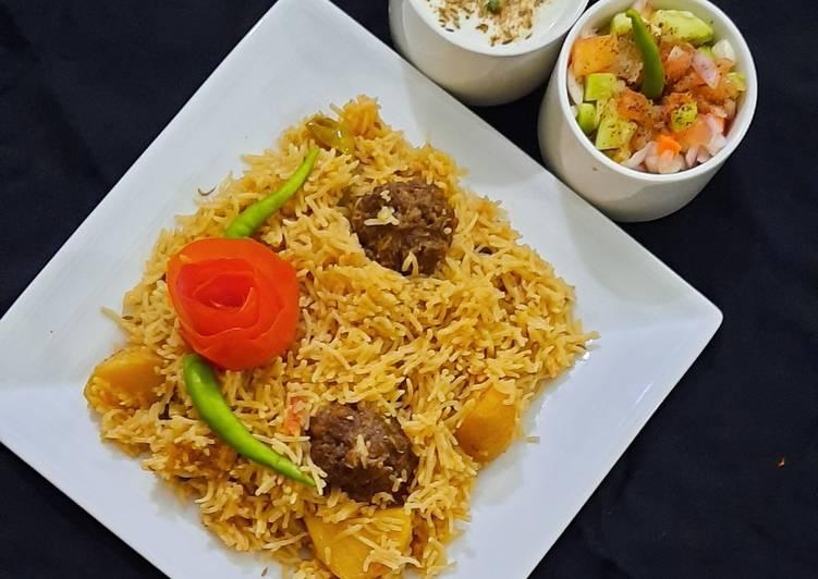 Kofta pulao with veg kebab 😋😋